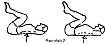exercicio_2_coluna_vertebral. Quais os exercícios para dor na coluna? Alongamento do quadríceps Ao alongar a musculatura da frente da coxa, você consegue elevar a frente do quadril, abaixando a parte de trás do quadril, e assim descomprime a coluna lombar, afasta as vértebras lombares e protege o nervo ciático.