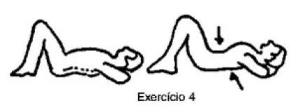 exercicio_4_coluna_vertebral. Quais os exercícios para dor na coluna? Alongamento do quadríceps Ao alongar a musculatura da frente da coxa, você consegue elevar a frente do quadril, abaixando a parte de trás do quadril, e assim descomprime a coluna lombar, afasta as vértebras lombares e protege o nervo ciático.